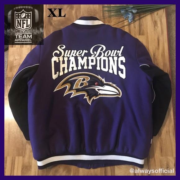 finest selection 0c783 e54b7 NFL Jackets & Coats | Official Ravens Commemorative Super ...